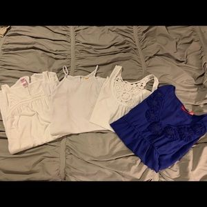Selling a lot of 4 tank blouses.